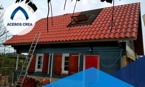La teja de acero, también conocida como Galvateja, es un componente de acero que tiene un excelente uso para techos.
